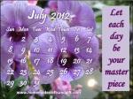 HM10 Purple Flowers 2012 July Calendar design