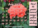 HM11 Big 2012 July Calendar template