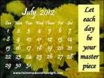 HM7 Free printable July 2012 Calendar template